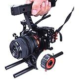 Commilte CS-S5 Film Movie Making Camera Video Cage +Top Handle Grip + Follow Focus for Sony A9 A7/A7II/A7s/A7r/A7Rii,Parasonic GH4(CS-F0+CS-V5)