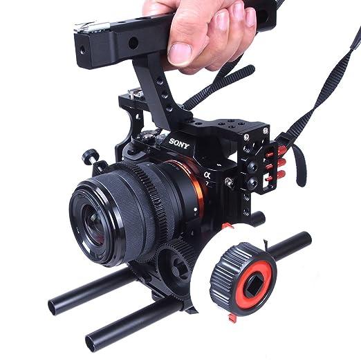 Commilte CS-S5 película Cine cámara Video Jaula Mango Grip SIGA ...