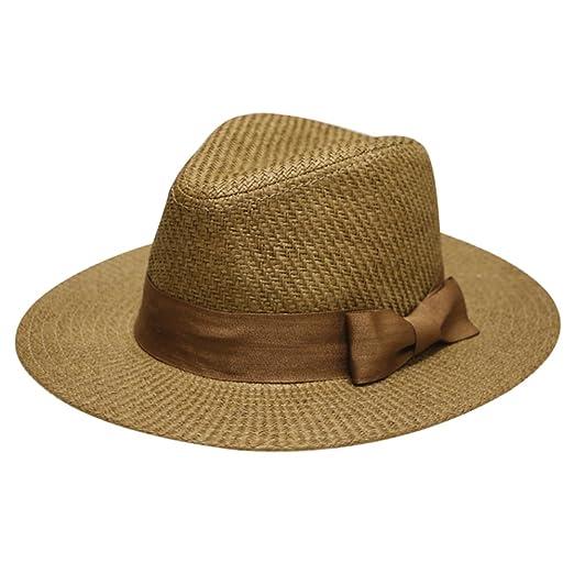 City Hunter Unisex Wide Brim Panama Straw Fedora Hat Multi Styles at ... 584cdf4d2294