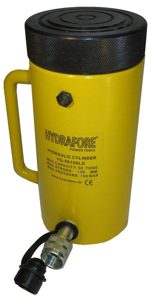 50 tons 6'' stroke Hydraulic Cylinder with Lock Nut Lifting Jack Ram YG-50150LS