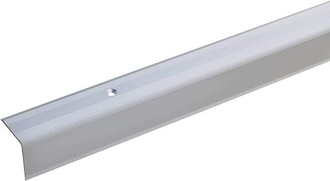 acerto 51104 Perfil angular de aluminio - 170cm 27x27mm plateado * Antideslizante * Robusto * De fácil instalación | Perfil de peldaño de escalera perfil de peldaño de aluminio: Amazon.es: Bricolaje y herramientas
