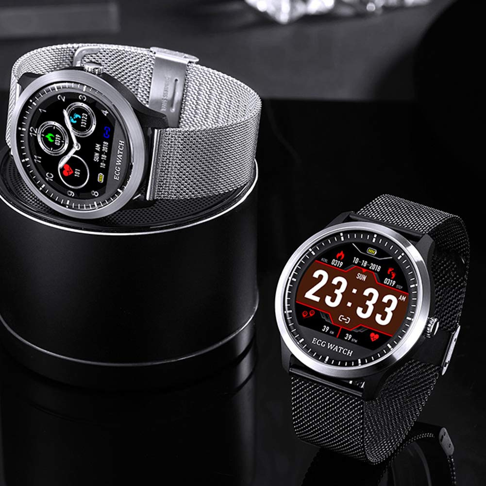 Fitness Tracker with Heart Rate Monitor ECG+PPG Measure for Samsung Android iOS