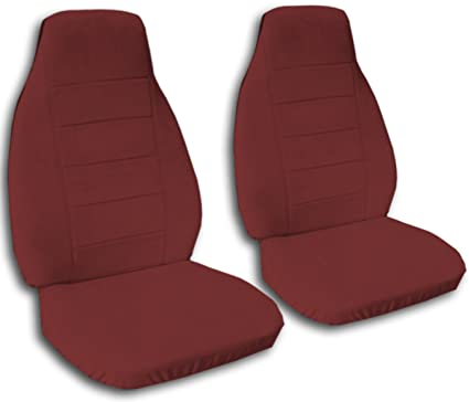 Solid Color Car Seat Covers Burgundy
