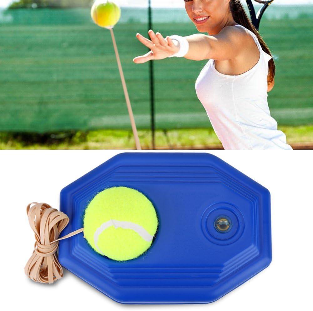 Haofy Entrenador de Pelota de Tenis, Equipo de Herramienta de Entrenamiento de Práctica de Autoestudio, Entrenador de Base de Pelota de Tenis con Cuerda Elástica de Goma