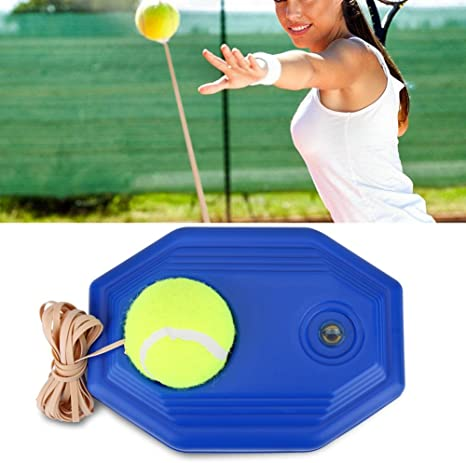 Tennis Trainer Rebound Ball Set Included Tennis Ball And Rubber Elastic Rope For Beginner Amazon Co Uk Sports Outdoors