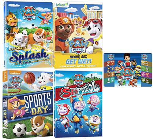 Paw Patrol: Summer and Beach Nick Jr. DVD Collection - 23 Episodes and Art Card]()