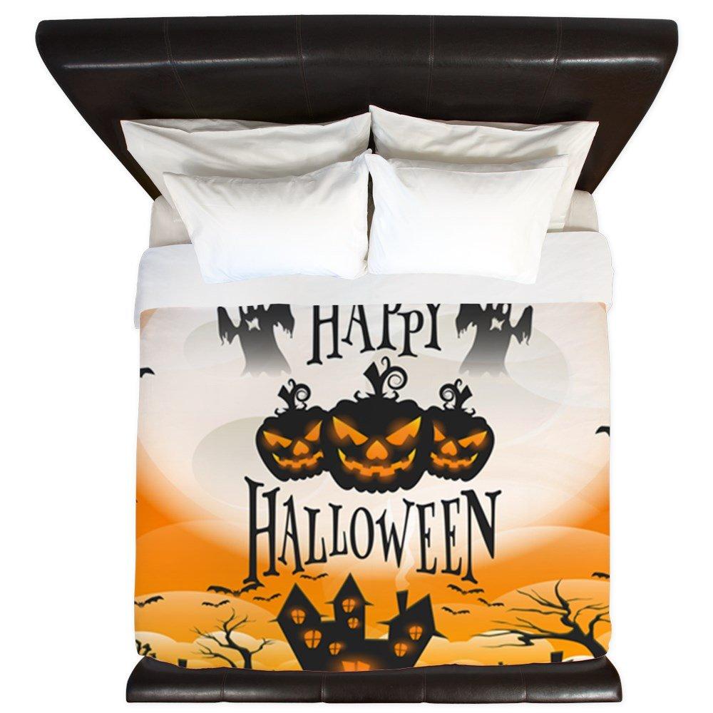 King Duvet Cover Happy Halloween Ghosts Pumpkins