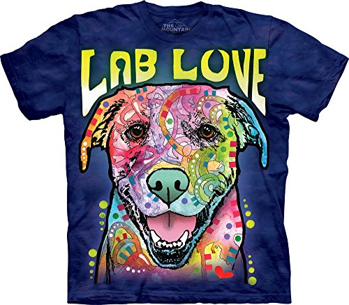 The Mountain Lab Luv Adult T-Shirt, Blue, XL ()