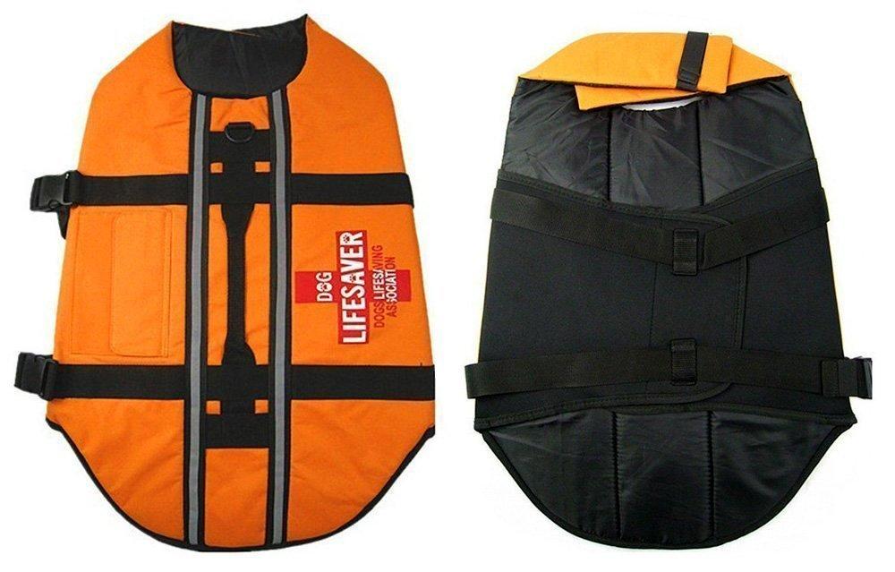 Pet Dog Lifejacket Swimming Safety Vest Reflective Jacket - Strong Buoyancy Swimsuit Lightweight Lifejacket (Small)
