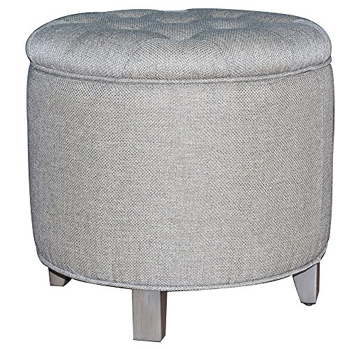 Crestview Collection CVFZR906 Birch Furniture Savannah Linen Shoe Ottoman by Crestview Collection