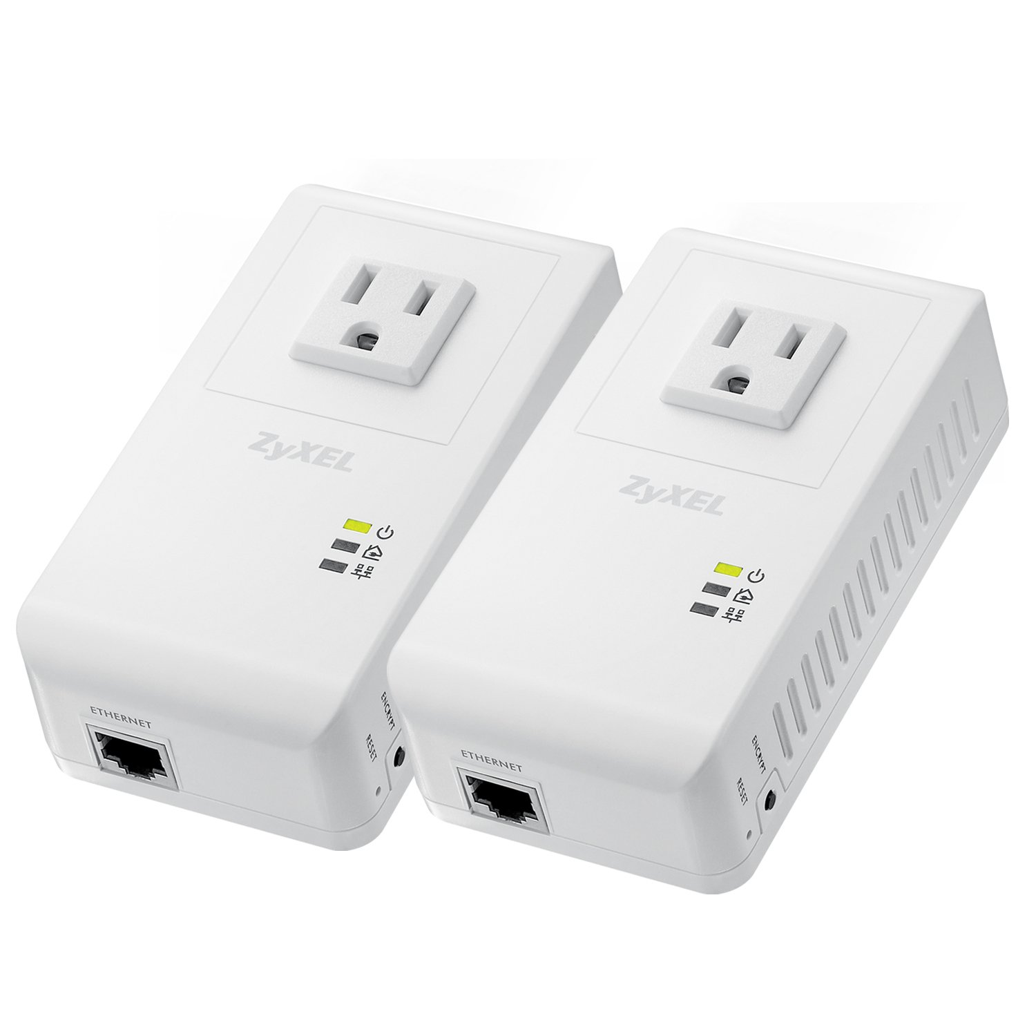 Zyxel Powerline Av 500 Mbps Wall Plug Adapter Starter Home Wiring Internet Kit With 2 Units Pla4215kit Computers Accessories