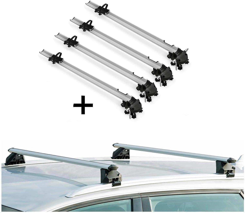 VDP 4X Bike Rack Bike Pro Roof Rack Rails CRV120A Mitsubishi Outlander III 5-Door 2013 Onwards