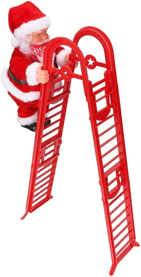 Escalera eléctrica de Escalada de Papá Noel Achort Juguete eléctrico de la Que Sube de Papá Noel,Campanas Musicales eléctricas Escalera de Escalada ...