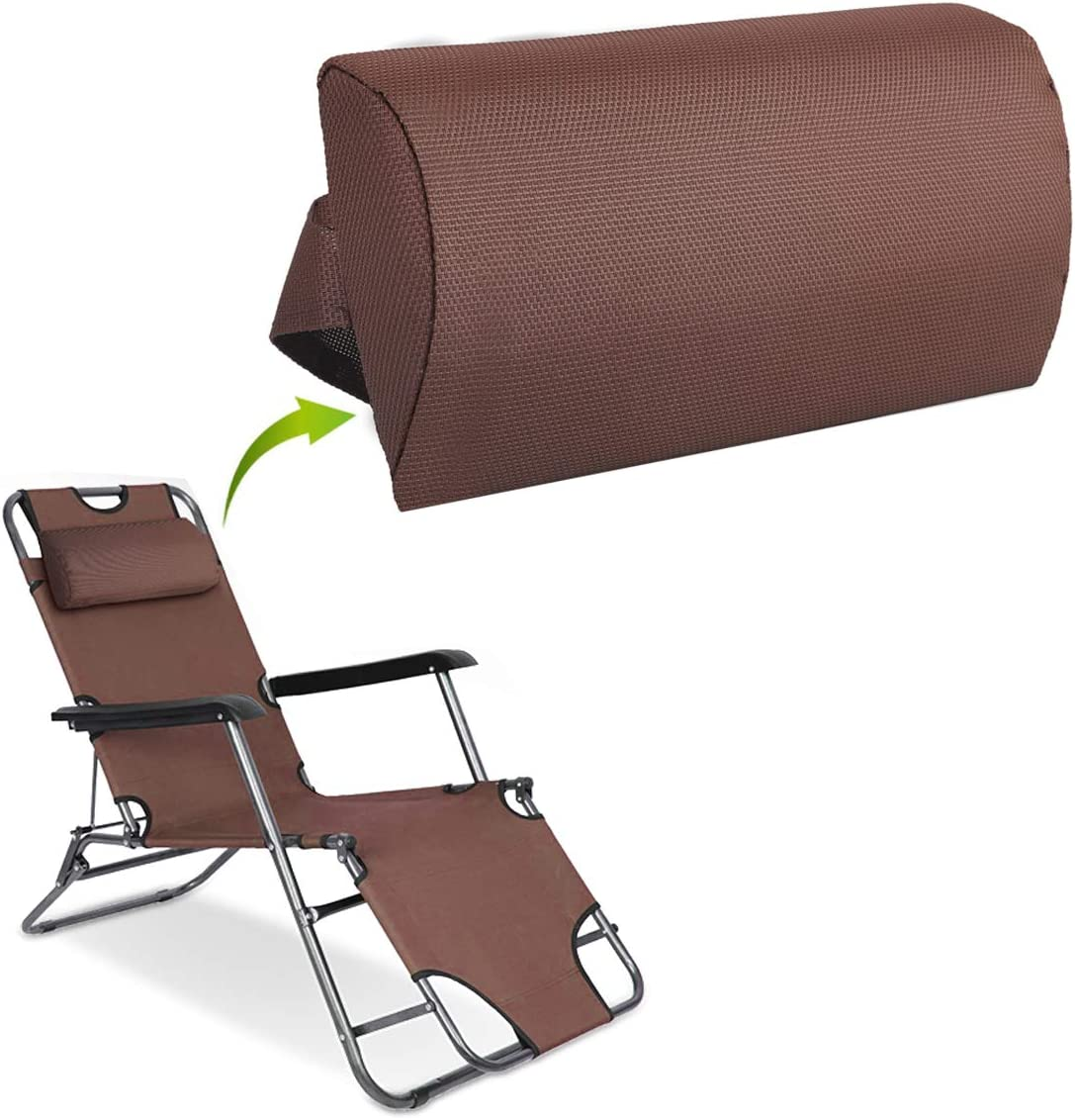 Removable Padded Headrest Pillow for Folding Zero Gravity Lounge Chair