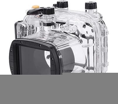 Topiky Funda Protectora a Prueba de Agua para Buceo Submarino de 40 m / 130 pies Shell Protector para cámara Canon G11 G12: Amazon.es: Electrónica
