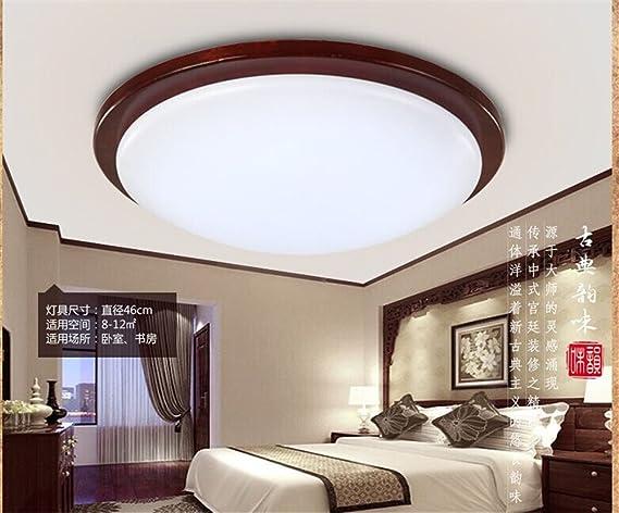 Leihongthebox soffitto cinese lampada led solido legno di luce