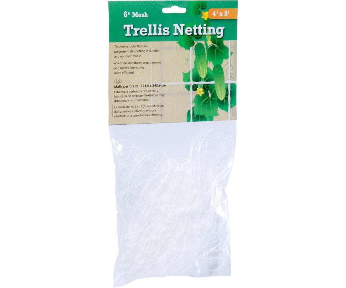 Hydrofarm HGN84 Flexible Polyethylene Trellis Netting, 4 x 8', 6'' Mesh