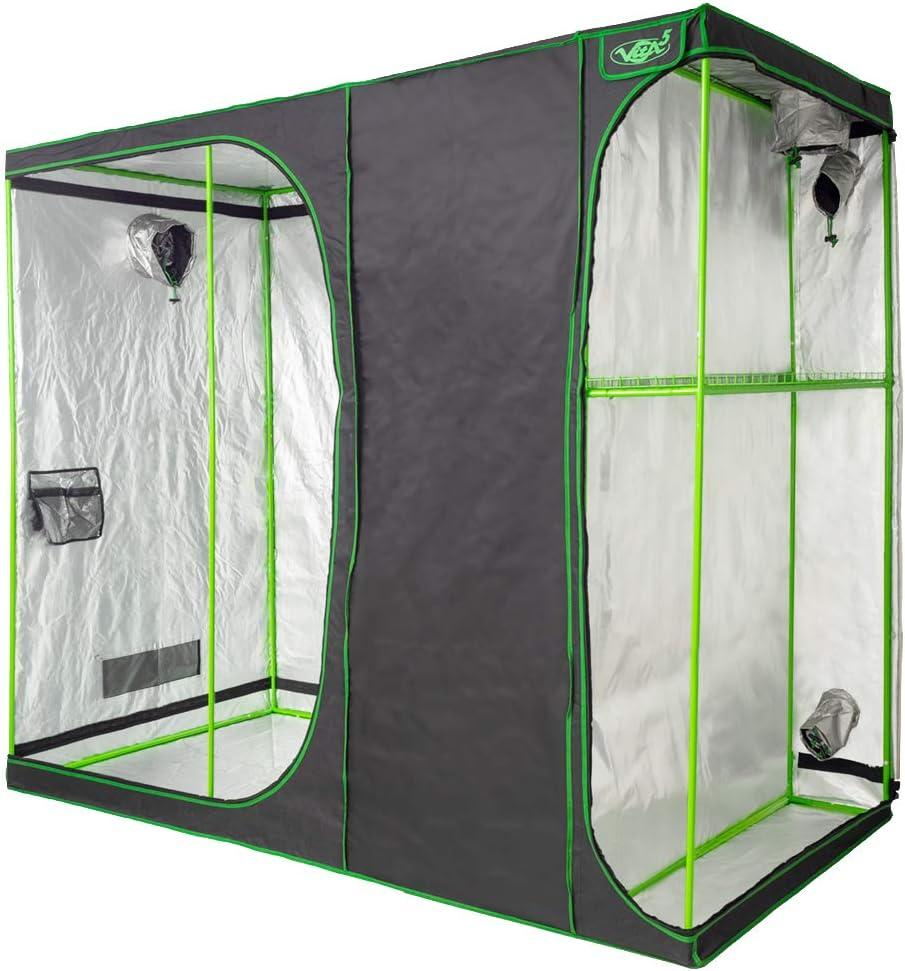 VITA5 Armaro Cultivo 2-in-1 | Armarios Cultivo Interior | Lona Resistente a Prueba de luz y de rasgaduras | Impermeable Grow Tent (240x120x200)