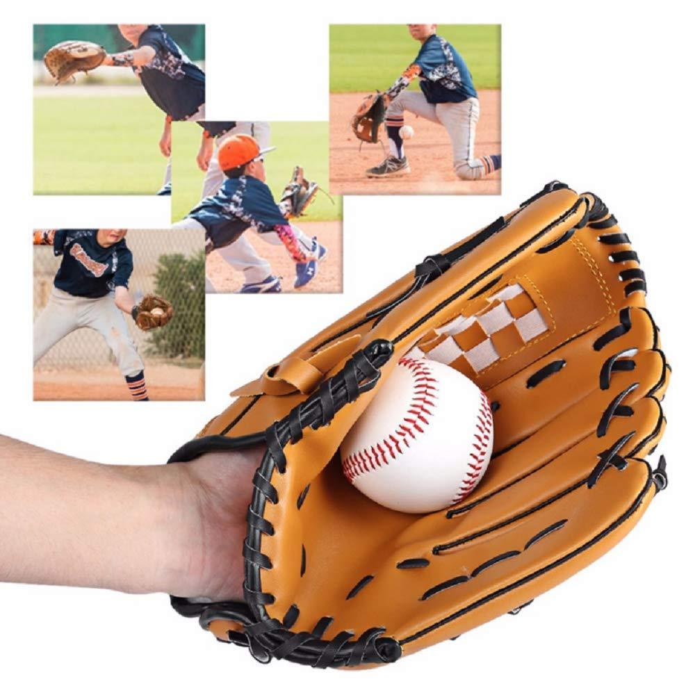 Yibak Baseballhandschuhe Extrame Sports Batting Gloves Catchers Mitt PU Leder 12,5 Zoll f/ür Erwachsene mit 1 Baseballball