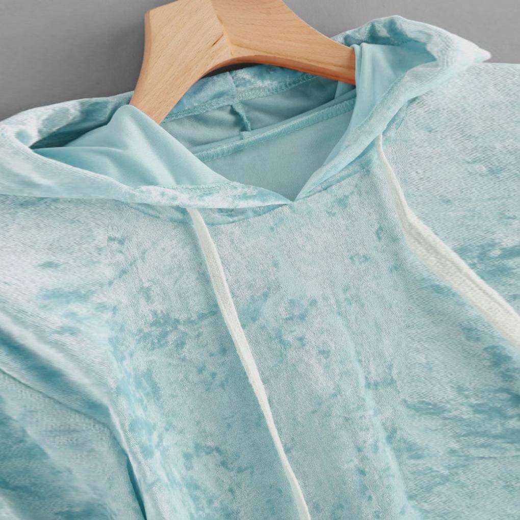 Spbamboo Womens Long Sleeve Hoodie Sweatshirt Jumper Pullover Tops Velvet Blouse by Spbamboo (Image #4)