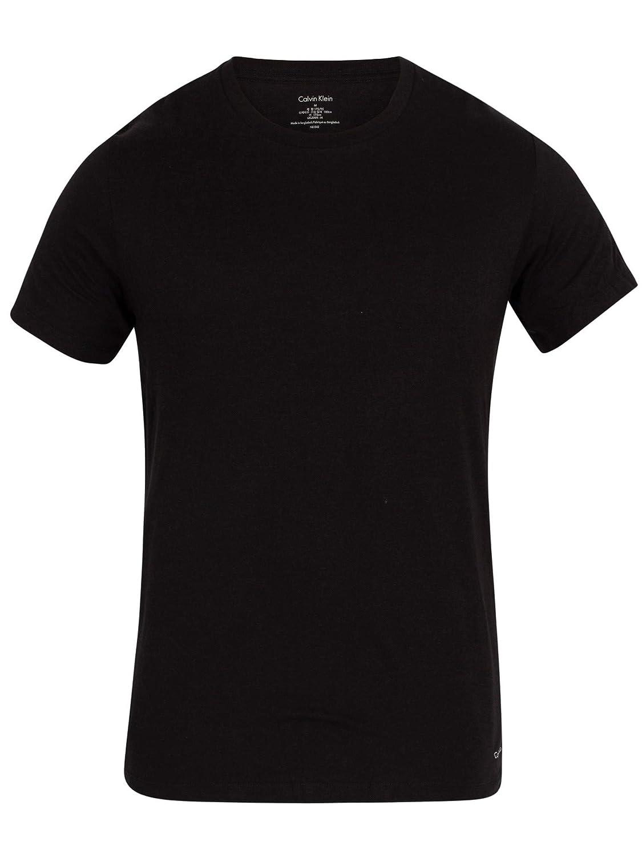 Camisetas Calvin Klein 2-pack Puro Algodón Cuello Redondo Hombres, Negro: Amazon.es: Ropa y accesorios