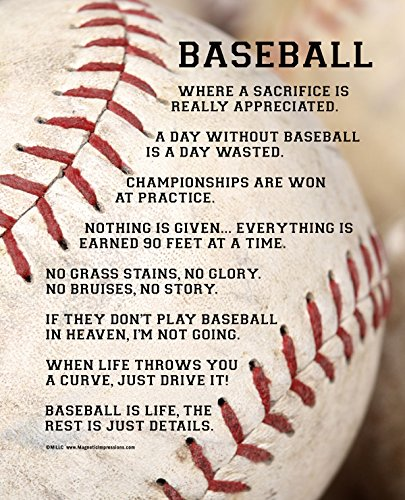 Posters and Prints by Magnetic Impressions Unframed Baseball Player Sayings 8