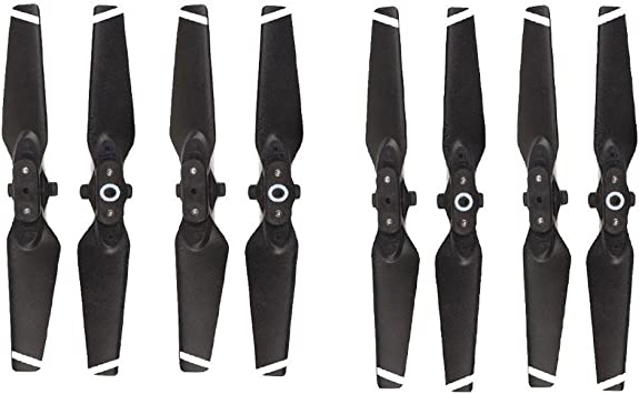 Quick Release Low Noise Colored Props Blades 4pcs//Set YANSHON Spark Propellers 4730F Propellers Blades Foldable Props for DJI Spark Drone