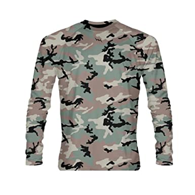 98530f2ed8 Image Unavailable. Image not available for. Color  LightningWear Green Long  Sleeve Camouflage Shirt