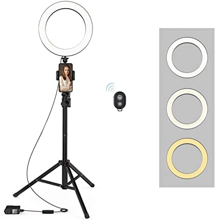 QIAYA Selfie Ring Light With Tripod Stand