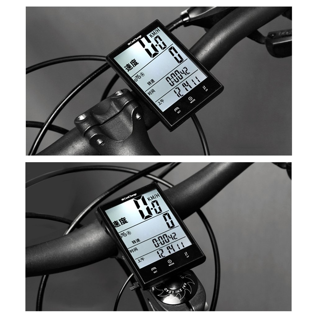 ULKEME Bikes Computer Waterproof Wired Speedometer Multifunction LCD Cycling Odometer by ULKEME (Image #4)