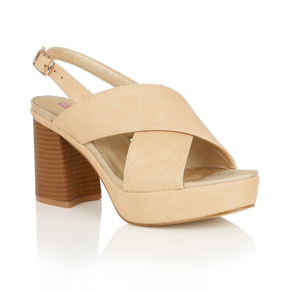 6f796f00604 Dolcis Heeled Sandals Vivian Beige