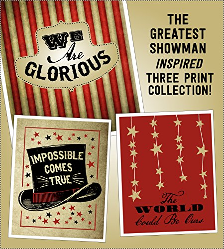 (The Greatest Showman Inspired Poster Print Collection | 11x14 | Lyric Art | Circus | Movie Posters)