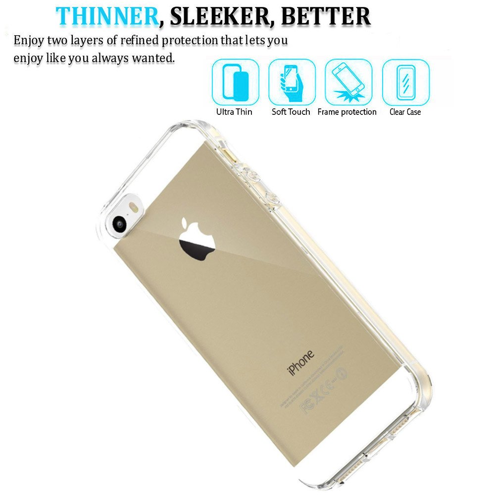 Amazon Com Iphone 5s Case Mxx Apple Iphone 5 5s Se Clear Case