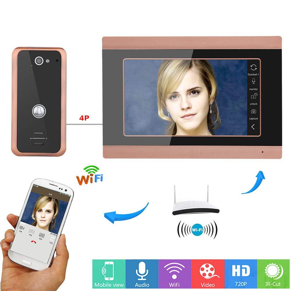 Jackeylove WLAN Wireless-Türklingel Indoor-Freischaltknopf Wasserdichte Smart-Home-Überwachung Nachtsicht-Anti-Diebstahl HD-Zwei-Wege-Ruf-Funk-Sicherheitsnetz-Kamerasystem