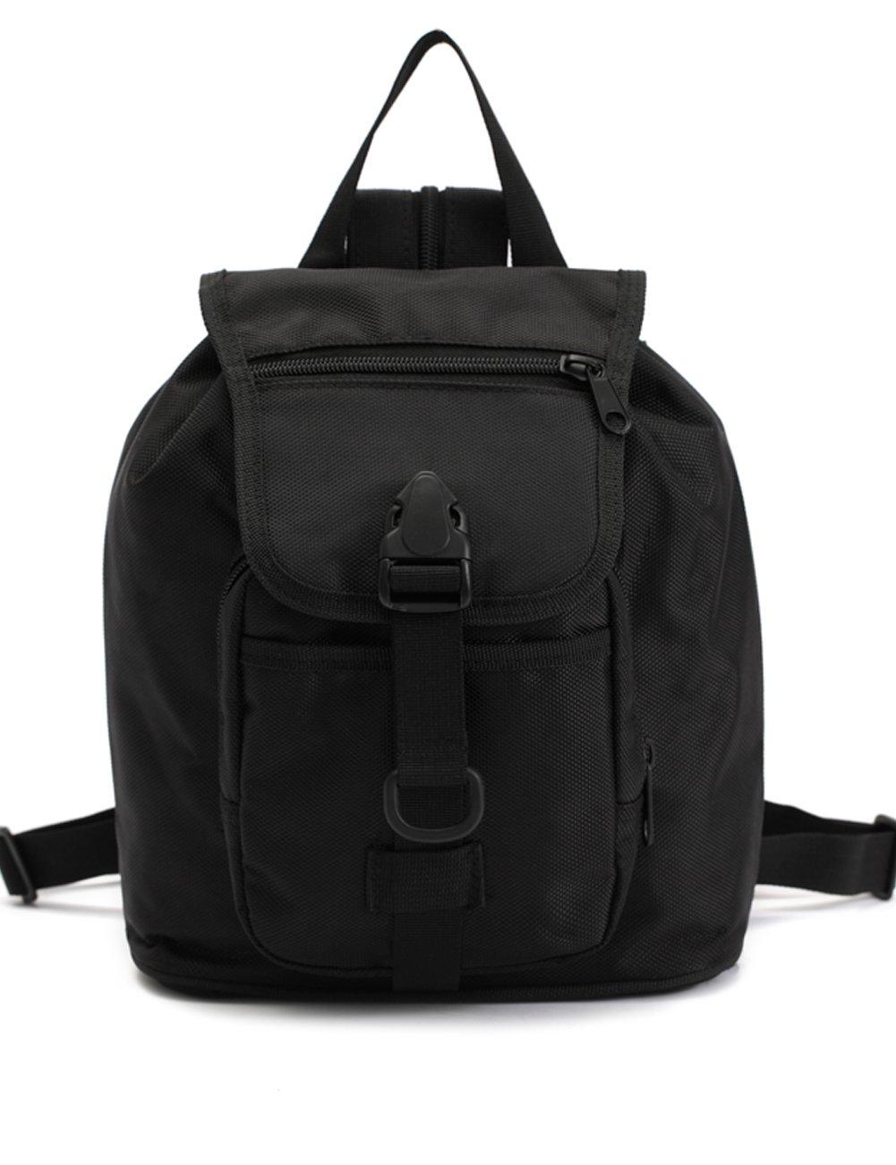 Mochila Kids Military Smallバックパック防水スクールBook Bags for男の子と女の子、10l B072KF2H3B ブラック