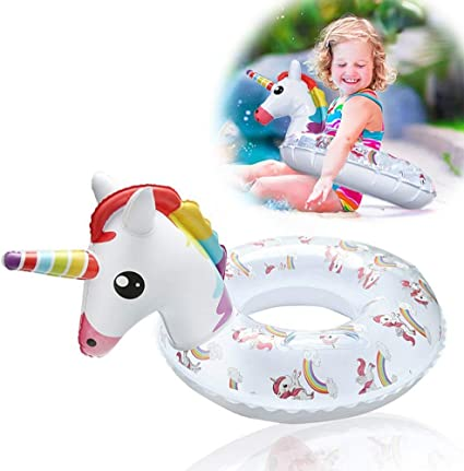 Amazon.com: DIYurfeeling Unicorn flamenco piscina flotador ...