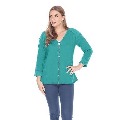 9e293efd4f68 Pure HANDKNIT Women s 100% Cotton Jumper Female Knitted Pullover ...
