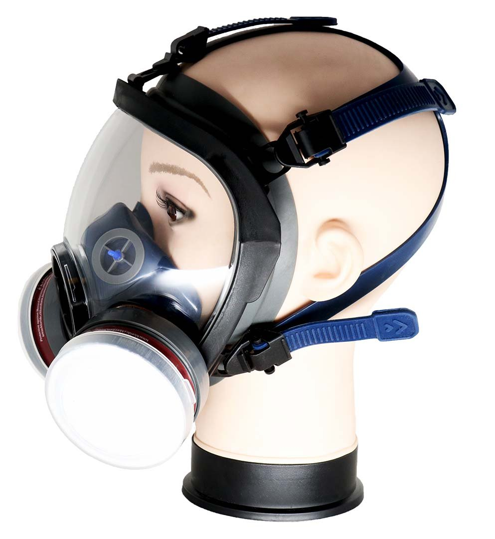 PD-100 Full Face Respirator by Parcil Distribution. 1 Year Factory Guarantee. Double Air Filter, Eye Protection, Gas Mask - Industrial Grade Quality by Parcil Distribution (Image #2)
