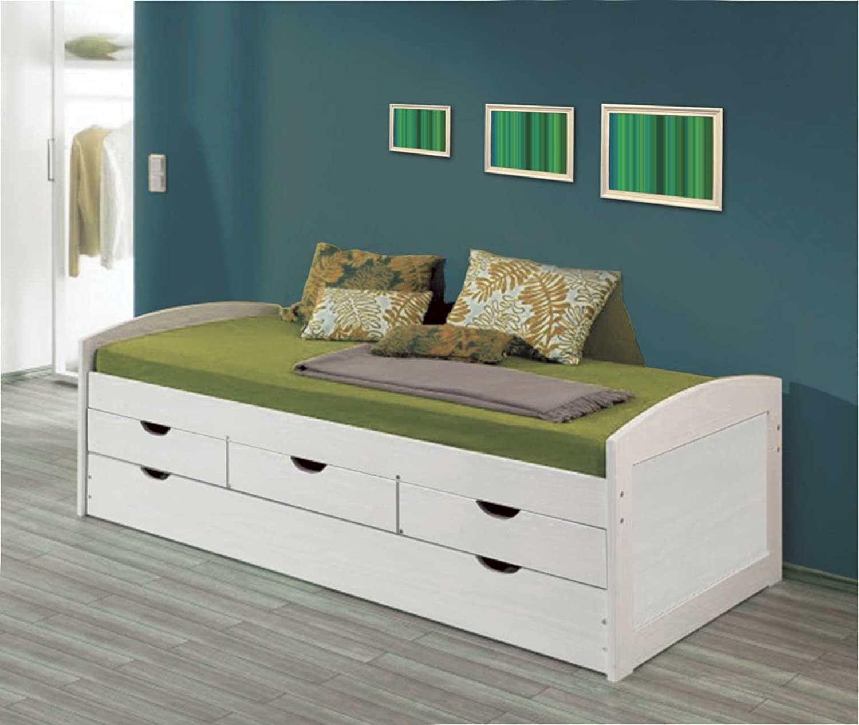 La Factoría Muebles - Cama nido 2 camas y 3 cajones en macizo, talla 63 x 195