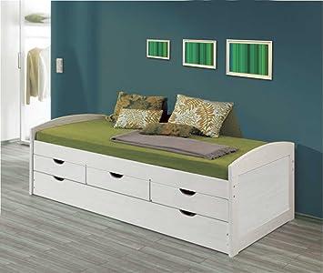 La Factoría Muebles - Cama nido 2 camas y 3 cajones en macizo, talla 63 x 195: Amazon.es: Hogar