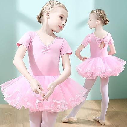 94e996aba981 Baby Toddler Girls Swimwear Children s Dance Wear Short-Sleeved ...