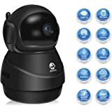 JOOAN 1080P Wireless Security Camera 2MP HD WiFi IP Home Surveillance Security System for Pet Baby Monitor with Two Way Audio Night Vision Motion Detection(Broad Field of View Dome Camera)-Black