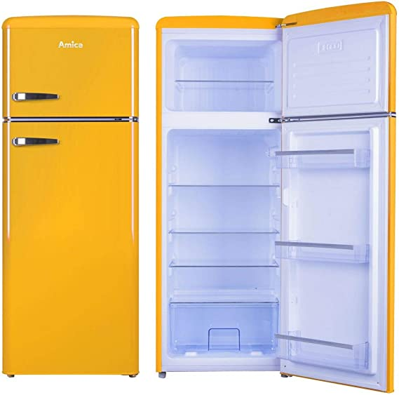 Amica Retro Nevera/Congelador Amarillo KGC 15633 y a + + 213 L ...