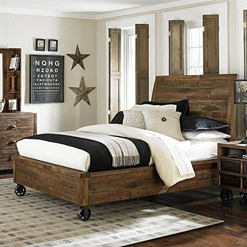 Magnussen Braxton Wood Island Bed with Casters in Natural - Twin