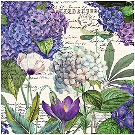Lilac and Violets Michel Design Works NAPL286 20-Count 3-Ply Paper Luncheon Napkins