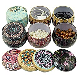 Candle Making kit, Small Empty Metal Jar Tins Cont