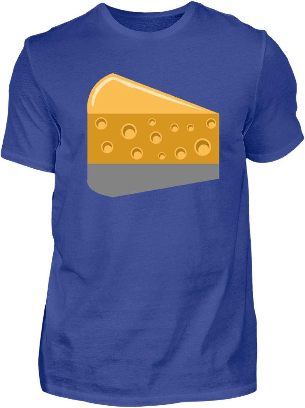 SPIRITSHIRTSHOP Queso – Cheese, ratón, Leche, Queso, Comida, Productos lácteos, Alimentos, Camiseta para Hombre