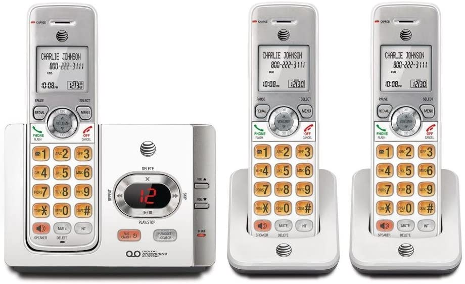 AT&T 3 Handset Cordless Phone with Answering System with Caller ID/Call Waiting