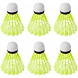 Professionelle, gelbe Federbälle für Badminton, 6 Stück