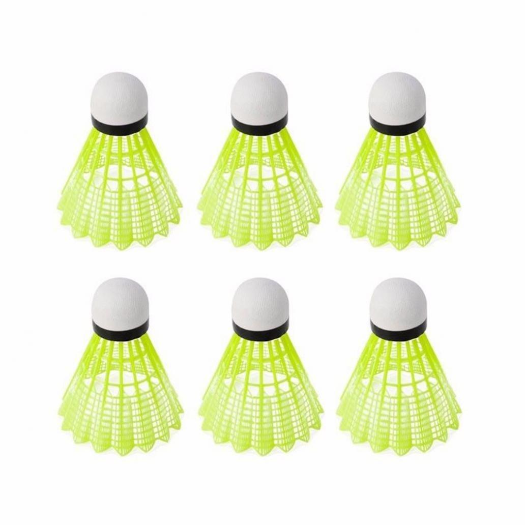 6Pcs Yellow Shuttlecock Sport Training Badminton Ball Professional Durable Set - Yellow Greenlans